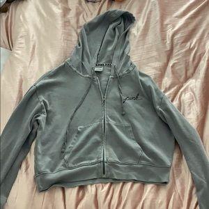 grey zipper jacket